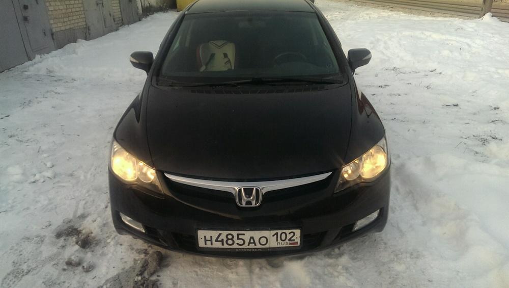 Подержанный Honda Civic, отличное состояние, черный металлик, 2008 года выпуска, цена 448 000 руб. в Челябинской области