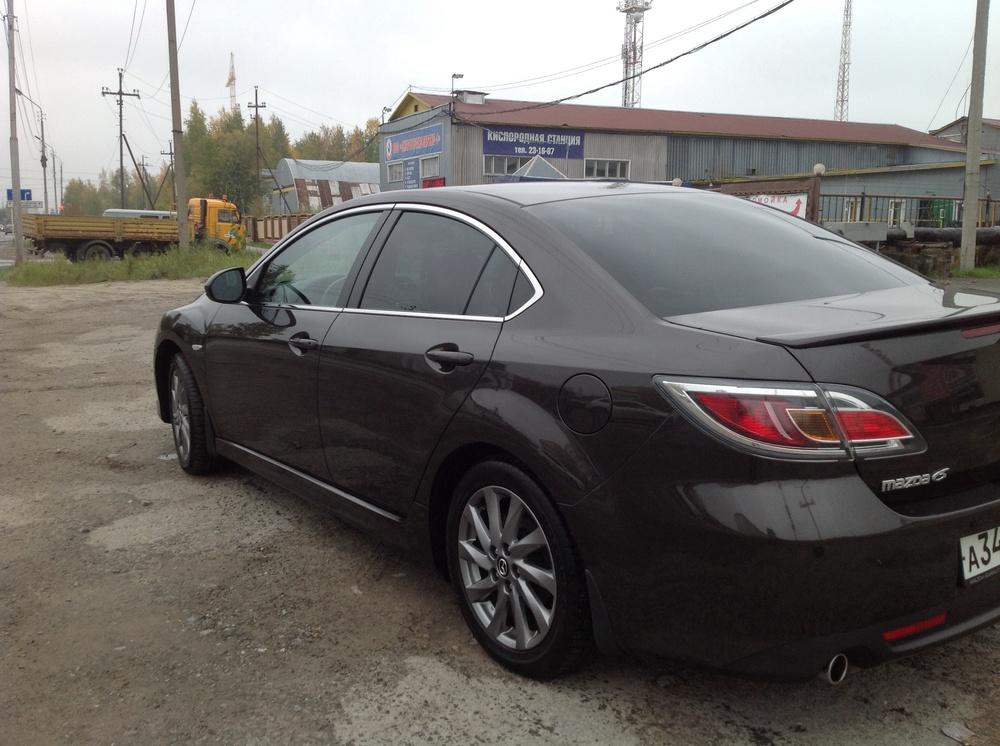 Подержанный Mazda 6, хорошее состояние, коричневый , 2012 года выпуска, цена 750 000 руб. в ао. Ханты-Мансийском Автономном округе - Югре