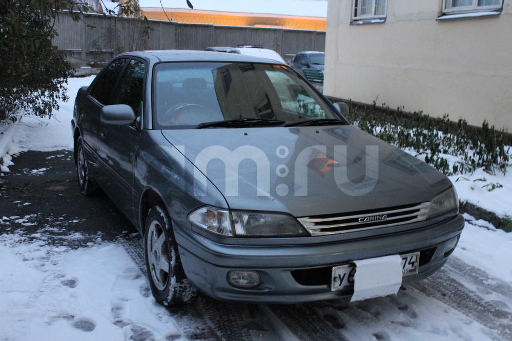 Подержанный Toyota Carina, хорошее состояние, серый металлик, 1997 года выпуска, цена 207 000 руб. в Челябинской области