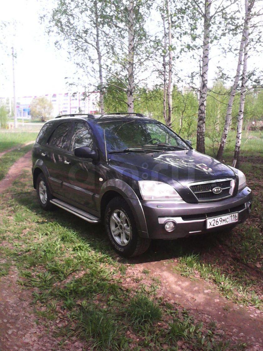 Подержанный Kia Sorento, хорошее состояние, черный , 2005 года выпуска, цена 380 000 руб. в республике Татарстане