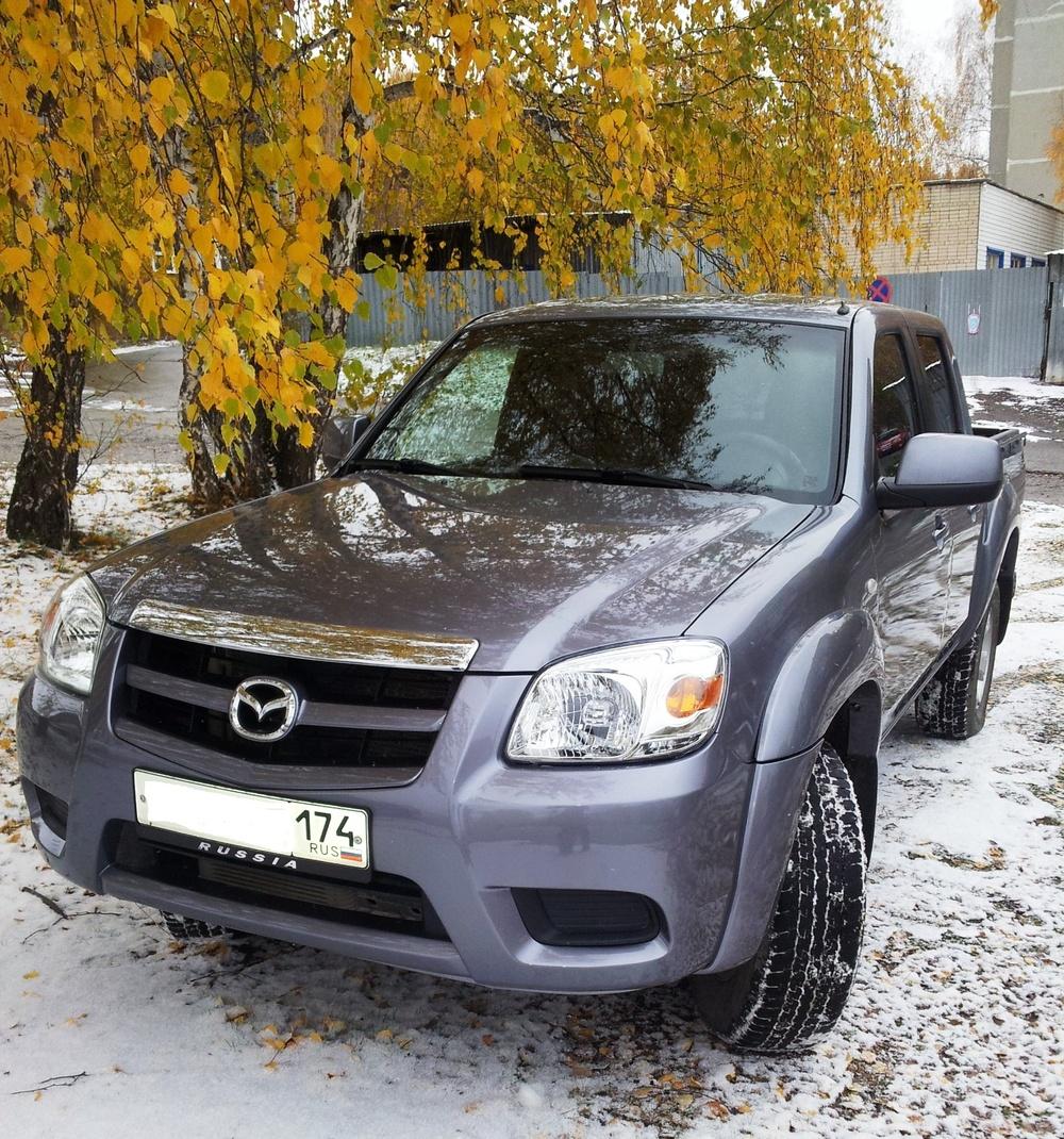 Подержанный Mazda BT-50, отличное состояние, серебряный , 2010 года выпуска, цена 670 000 руб. в Челябинской области
