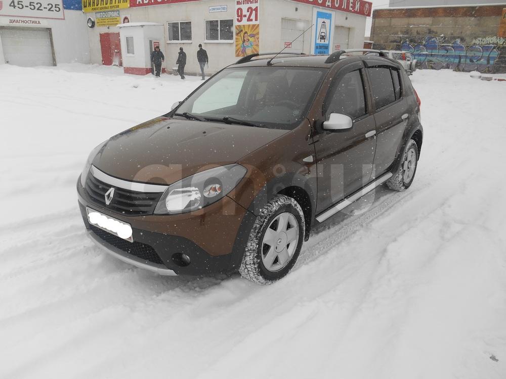Подержанный Renault Sandero, отличное состояние, коричневый металлик, 2013 года выпуска, цена 490 000 руб. в Челябинской области