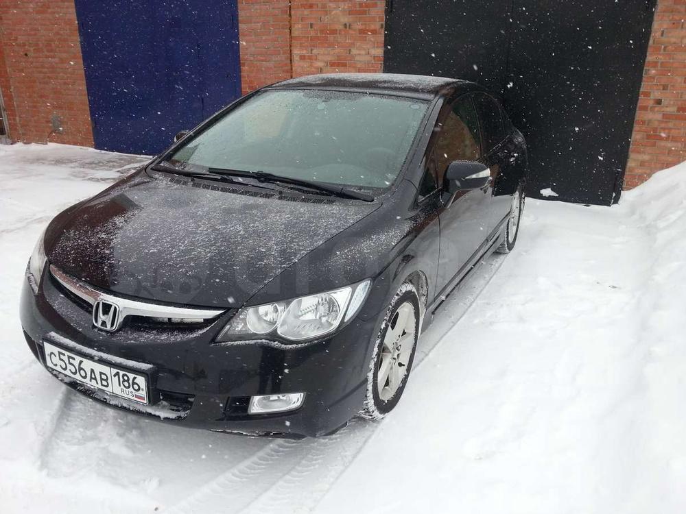 Подержанный Honda Civic, хорошее состояние, черный , 2008 года выпуска, цена 527 000 руб. в ао. Ханты-Мансийском Автономном округе - Югре