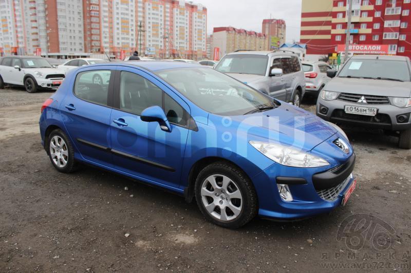 Peugeot 308 с пробегом, синий , отличное состояние, 2010 года выпуска, цена 400 000 руб. в автосалоне  ()