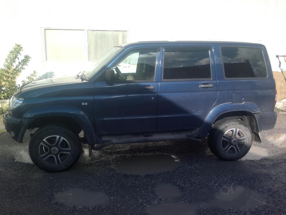 Подержанный УАЗ Patriot, отличное состояние, синий металлик, 2013 года выпуска, цена 520 000 руб. в Челябинской области