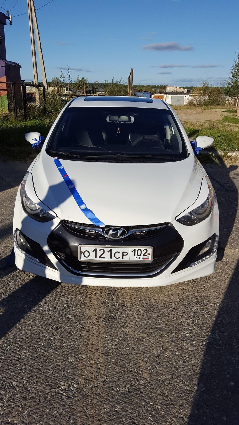 Подержанный Hyundai Avante, хорошее состояние, белый , 2012 года выпуска, цена 680 000 руб. в ао. Ханты-Мансийском Автономном округе - Югре