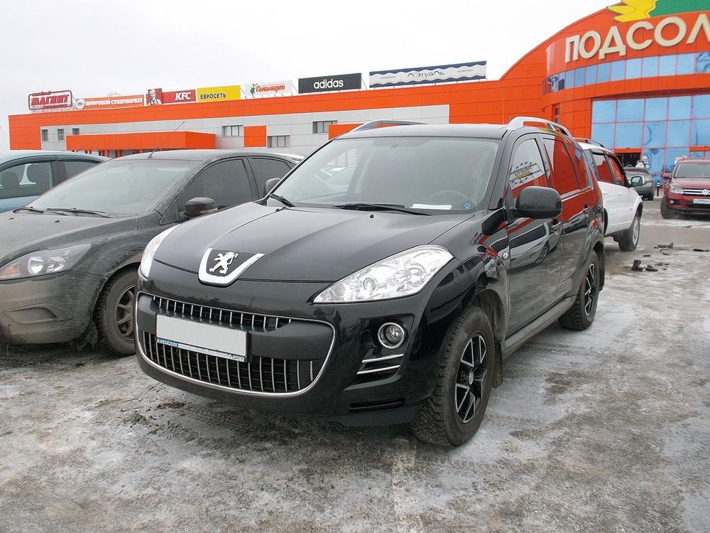 Подержанный Peugeot 4007, отличное состояние, черный , 2009 года выпуска, цена 625 000 руб. в ао. Ханты-Мансийском Автономном округе - Югре