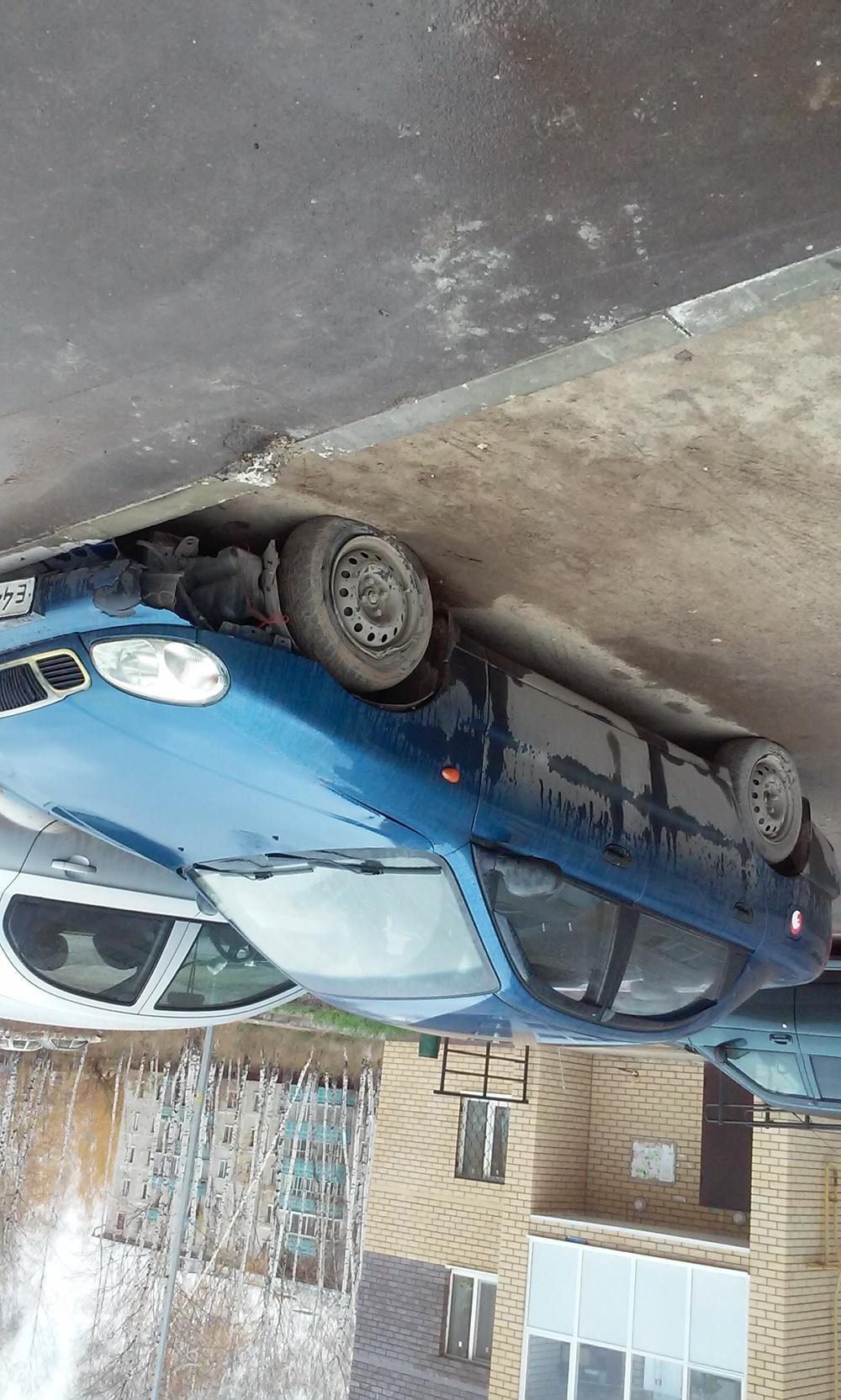 Подержанный Chevrolet Lanos, битый состояние, синий , 2008 года выпуска, цена 70 000 руб. в республике Татарстане