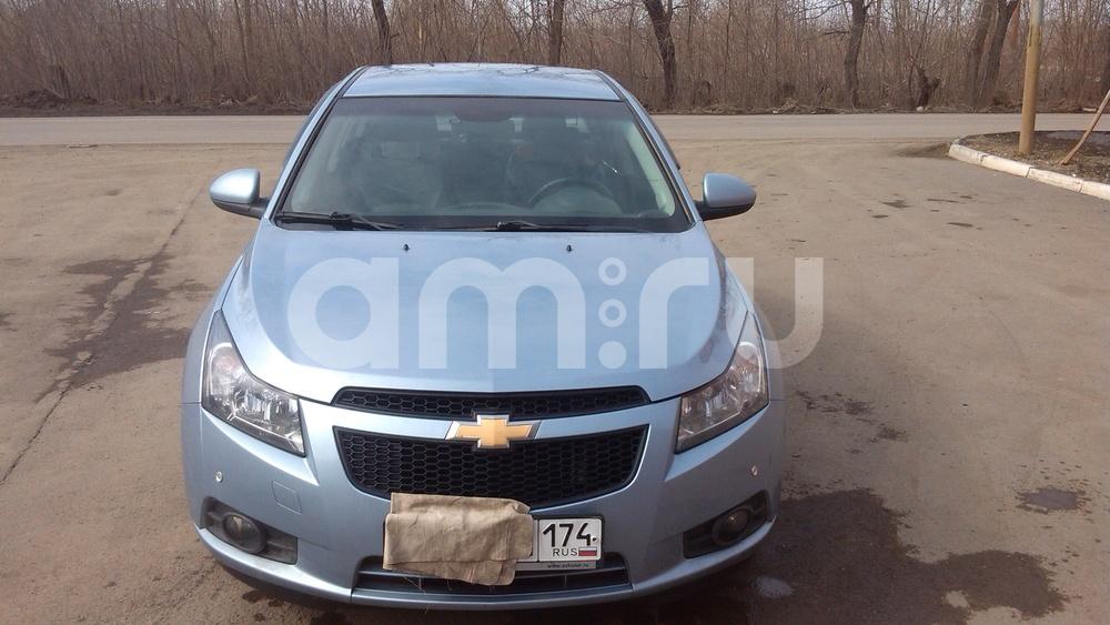 Подержанный Chevrolet Cruze, хорошее состояние, голубой металлик, 2010 года выпуска, цена 400 000 руб. в Челябинской области