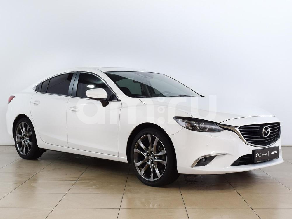Mazda 6 с пробегом, белый , отличное состояние, 2015 года выпуска, цена 1 369 000 руб. в автосалоне  ()