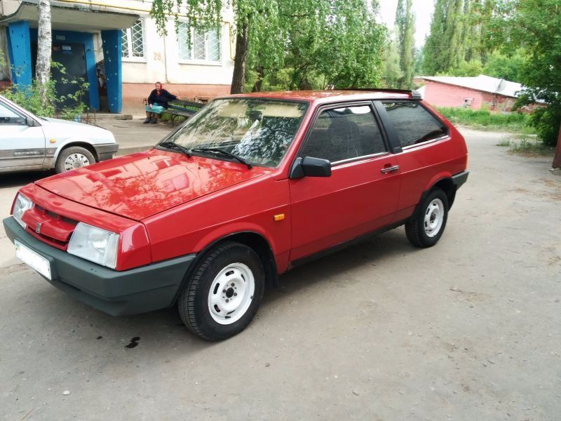 Подержанный ВАЗ (Lada) 2108, хорошее состояние, красный , 1994 года выпуска, цена 35 000 руб. в Челябинской области