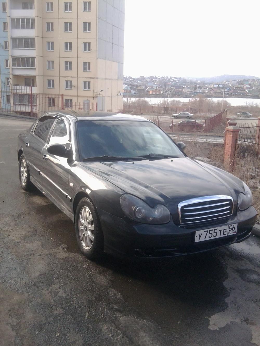 Подержанный Hyundai Sonata, хорошее состояние, черный , 2008 года выпуска, цена 270 000 руб. в Челябинской области