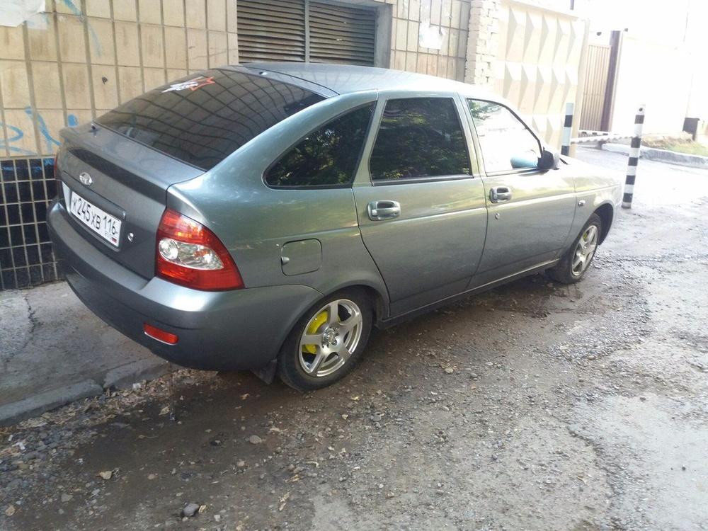 Подержанный ВАЗ (Lada) Priora, хорошее состояние, серый , 2008 года выпуска, цена 155 000 руб. в республике Татарстане