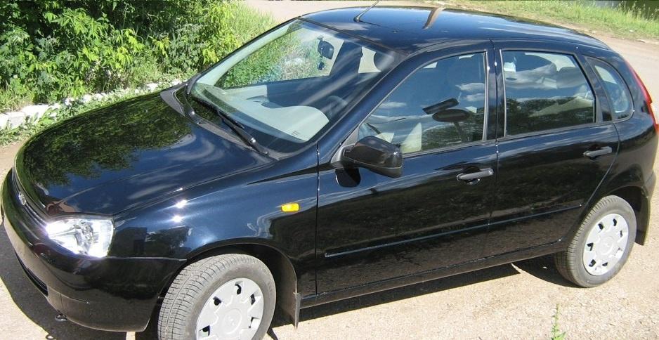 Подержанный ВАЗ (Lada) Kalina, хорошее состояние, черный , 2011 года выпуска, цена 220 000 руб. в республике Татарстане