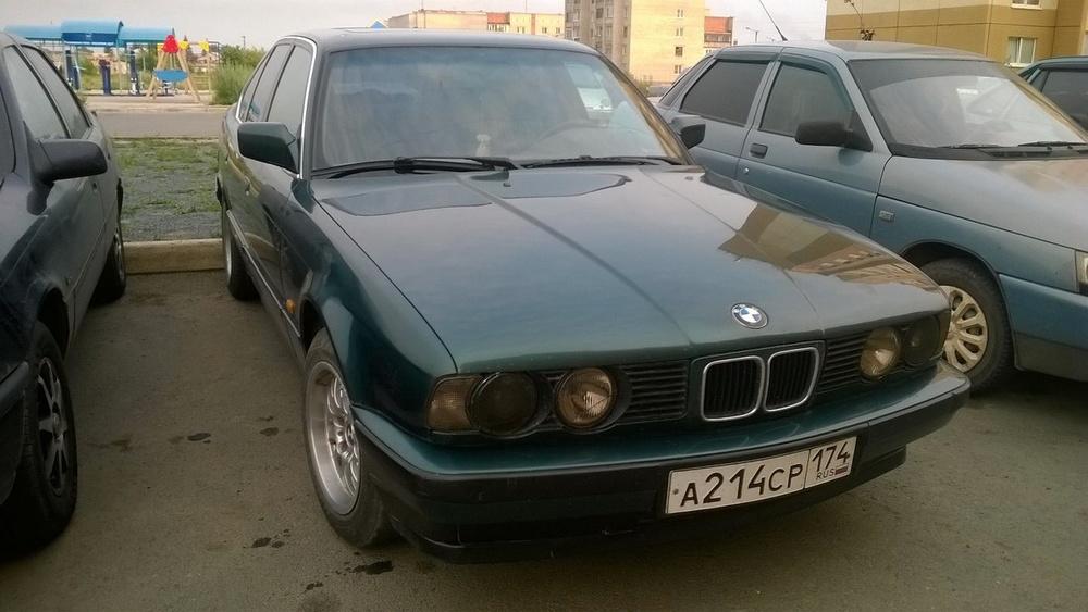 Подержанный BMW 5 серия, хорошее состояние, зеленый металлик, 1992 года выпуска, цена 158 000 руб. в Челябинской области
