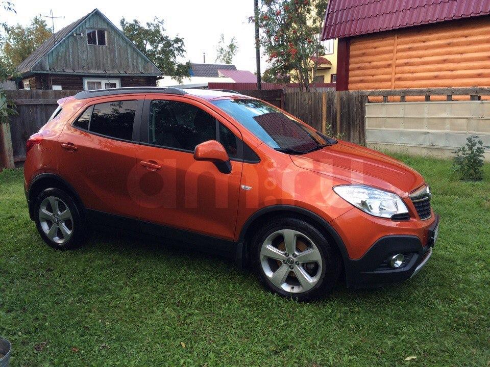 Подержанный Opel Mokka, отличное состояние, оранжевый металлик, 2014 года выпуска, цена 850 000 руб. в ао. Ханты-Мансийском Автономном округе - Югре