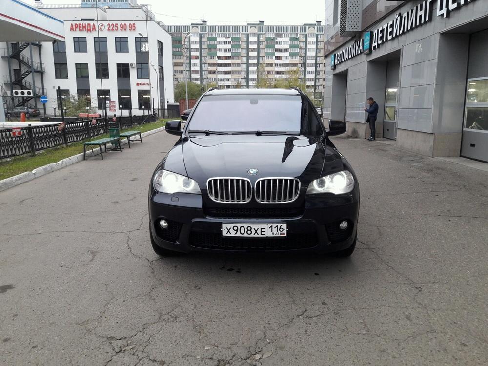 Подержанный BMW X5, отличное состояние, синий перламутр, 2011 года выпуска, цена 1 345 000 руб. в республике Татарстане