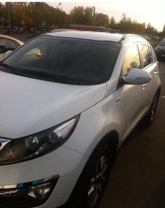 Подержанный Kia Sportage, отличное состояние, белый , 2014 года выпуска, цена 1 150 000 руб. в республике Татарстане