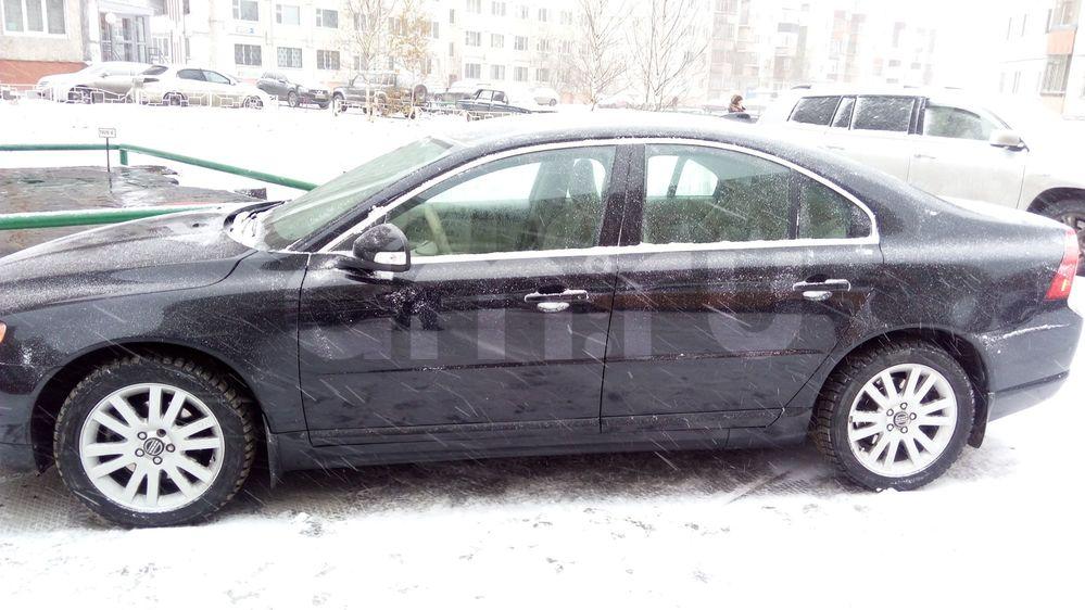 Подержанный Volvo S80, отличное состояние, черный металлик, 2007 года выпуска, цена 610 000 руб. в ао. Ханты-Мансийском Автономном округе - Югре