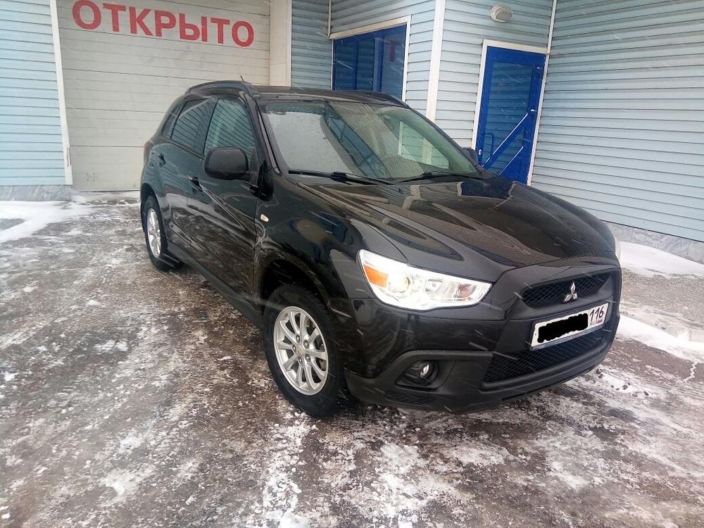 Подержанный Mitsubishi ASX, отличное состояние, черный металлик, 2010 года выпуска, цена 720 000 руб. в республике Татарстане