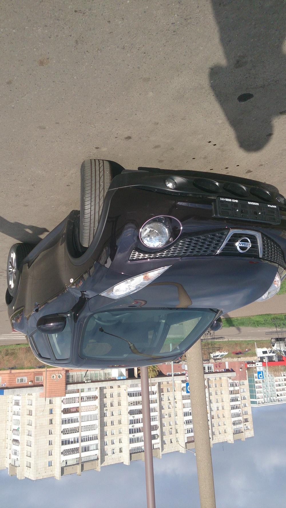 Подержанный Nissan Juke, отличное состояние, пурпурный металлик, 2014 года выпуска, цена 815 000 руб. в республике Татарстане