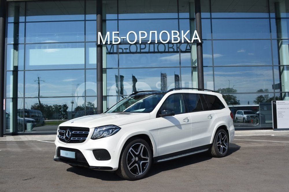 Новый авто Mercedes-Benz GLS-класс, белый перламутр, 2016 года выпуска, цена 5 624 000 руб. в автосалоне  ()
