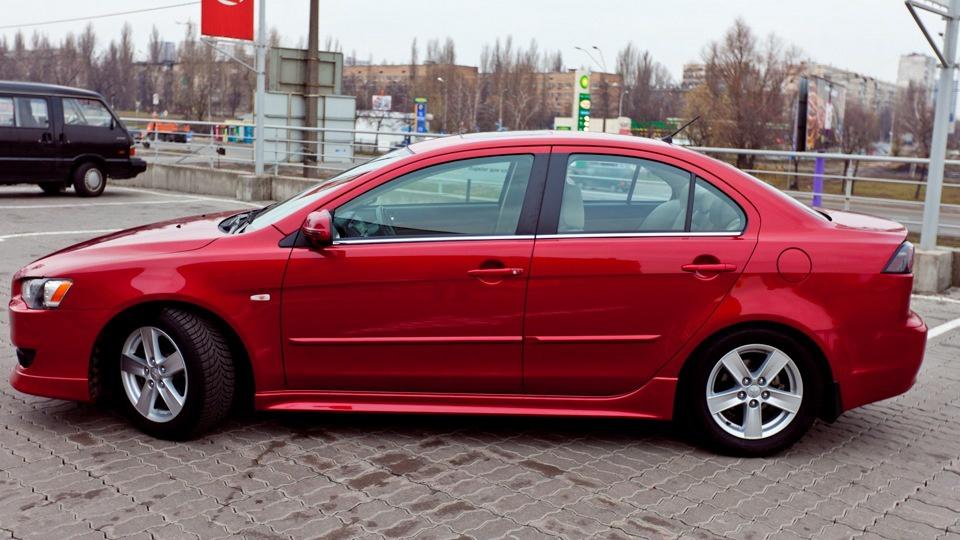 Подержанный Mitsubishi Lancer, среднее состояние, красный , 2012 года выпуска, цена 480 000 руб. в Челябинской области