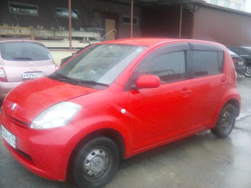 Подержанный Toyota Passo, среднее состояние, красный , 2005 года выпуска, цена 230 000 руб. в Челябинской области