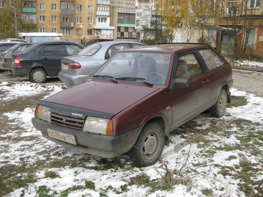 Подержанный ВАЗ (Lada) 2108, хорошее состояние, бордовый , 1986 года выпуска, цена 50 000 руб. в Челябинской области
