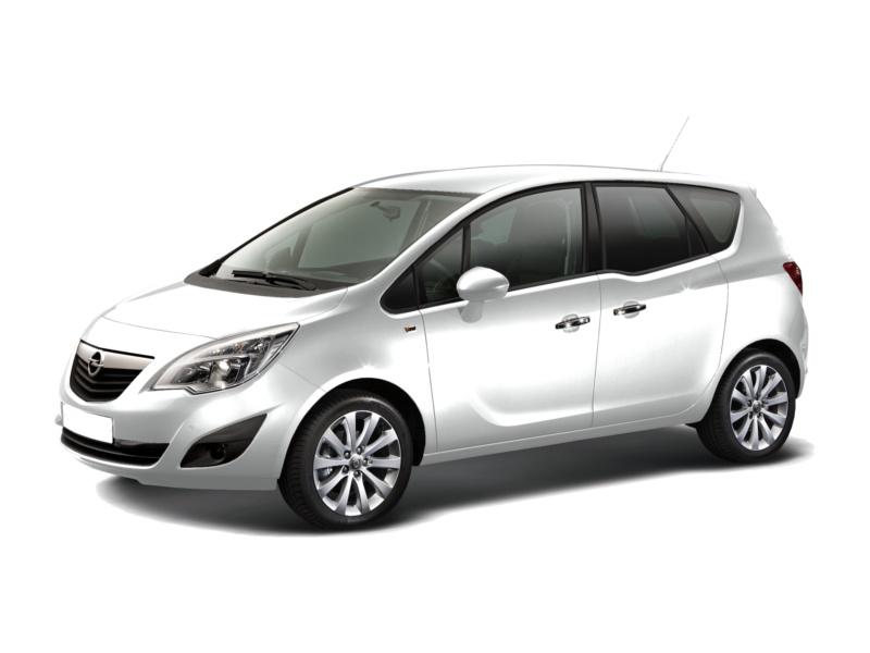 Подержанный Opel Meriva, хорошее состояние, белый металлик, 2012 года выпуска, цена 465 000 руб. в ао. Ханты-Мансийском Автономном округе - Югре
