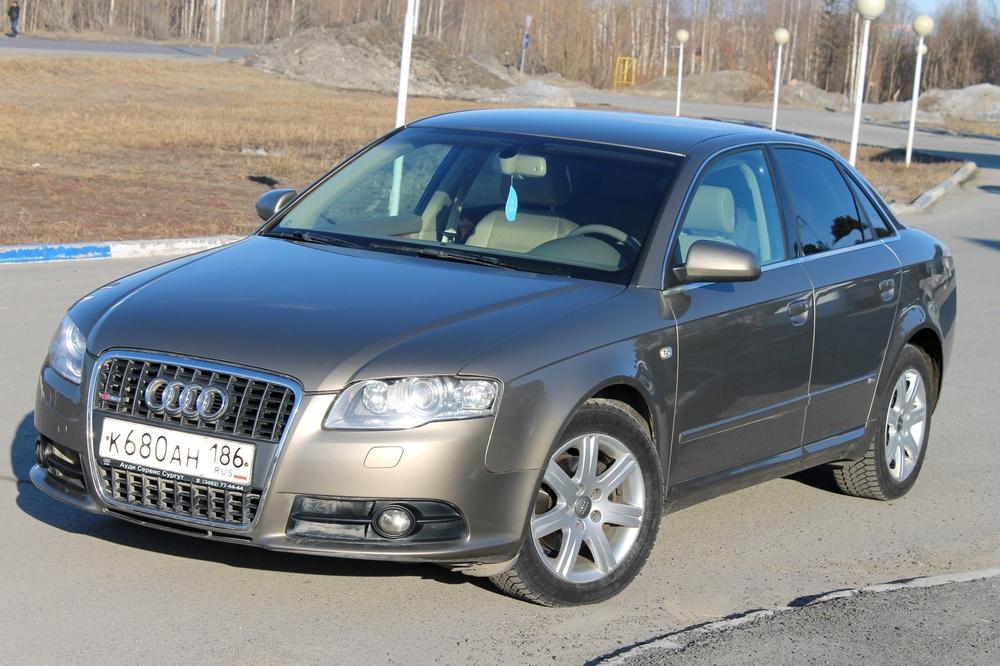 Подержанный Audi A4, отличное состояние, коричневый , 2007 года выпуска, цена 625 000 руб. в ао. Ханты-Мансийском Автономном округе - Югре