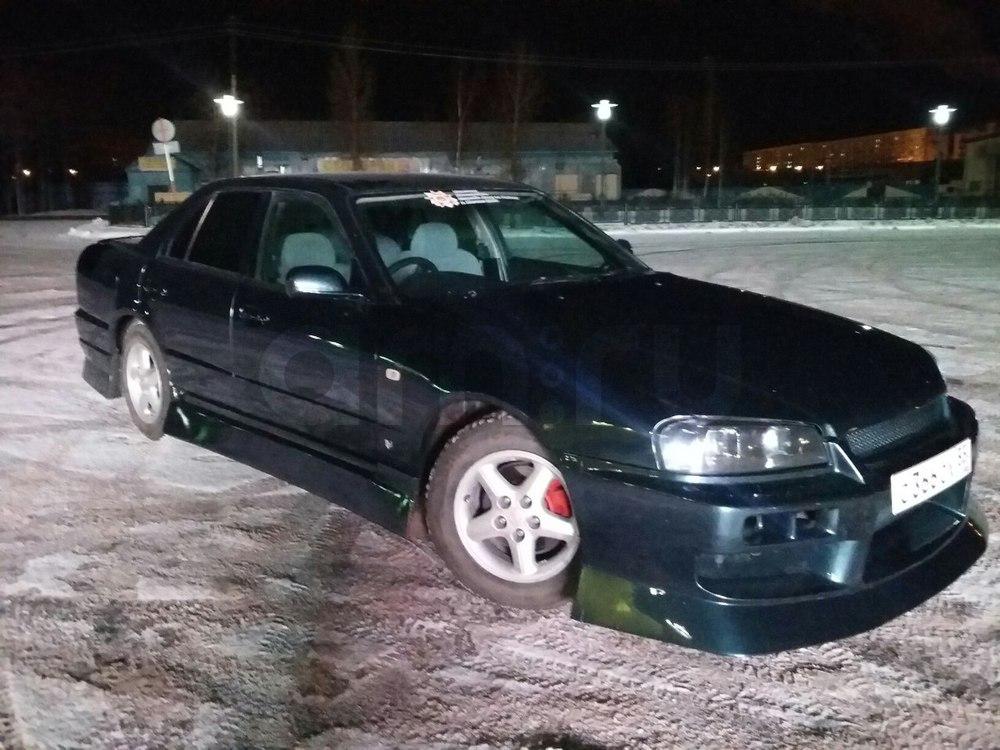 Подержанный Nissan Skyline, отличное состояние, синий металлик, 2000 года выпуска, цена 329 000 руб. в ао. Ханты-Мансийском Автономном округе - Югре