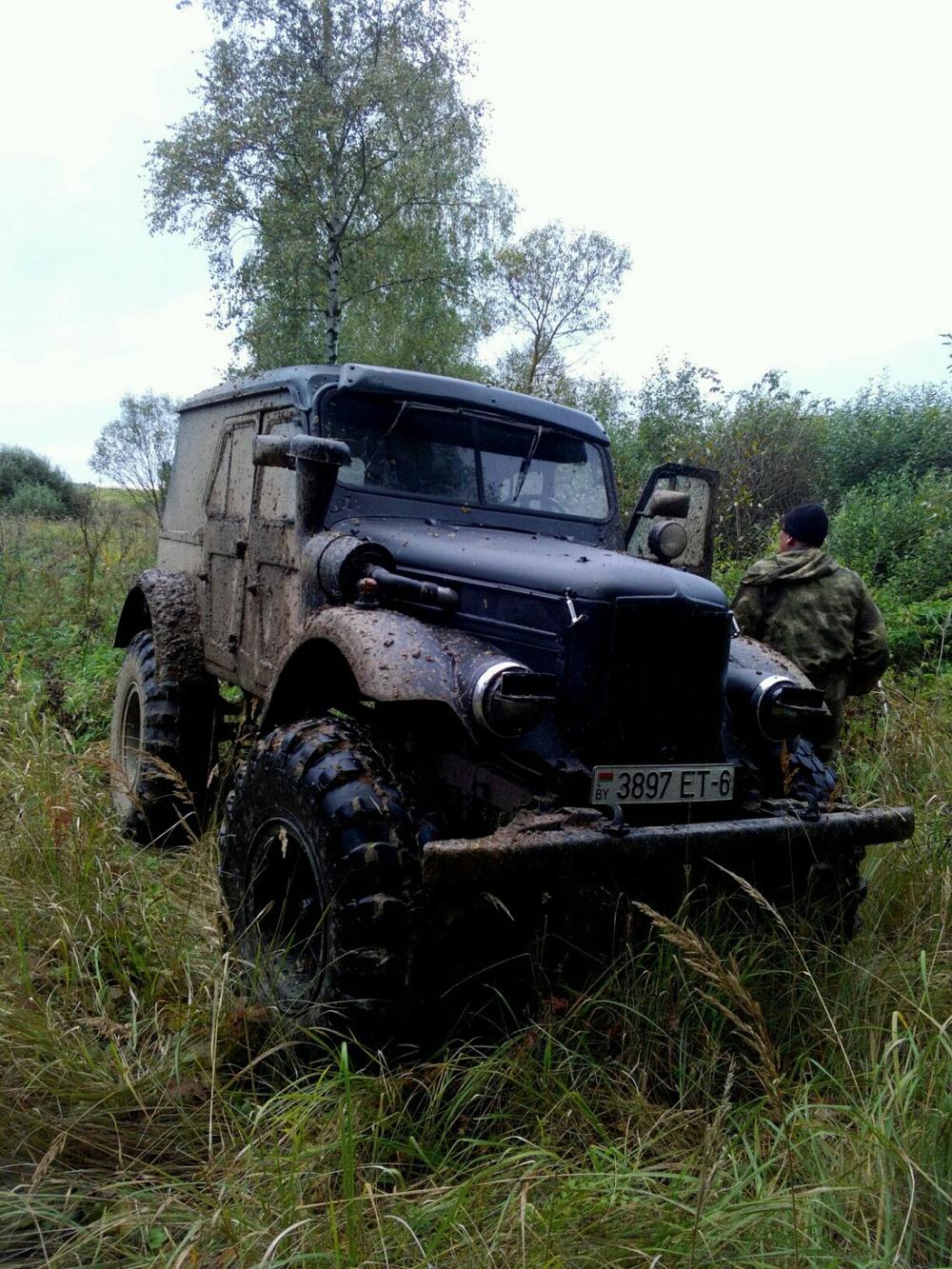 Подержанный ГАЗ 69, хорошее состояние, черный матовый, 1955 года выпуска, цена 370 000 руб. в Смоленской области