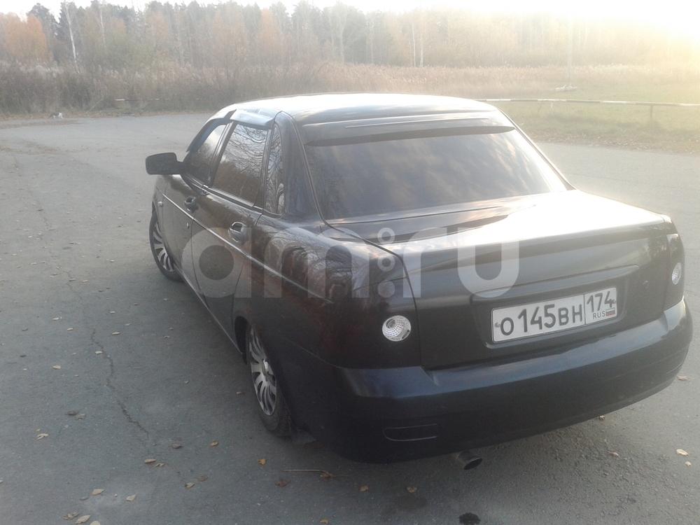 Подержанный ВАЗ (Lada) Priora, хорошее состояние, черный металлик, 2008 года выпуска, цена 165 000 руб. в Челябинской области