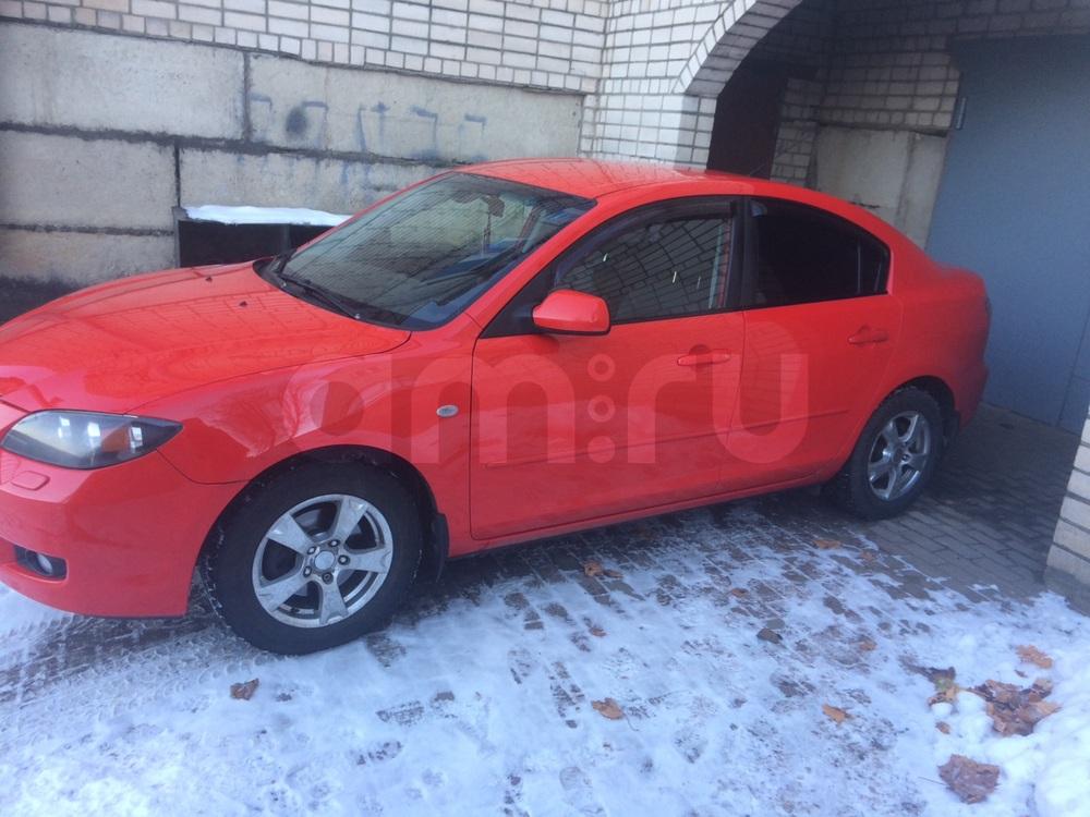 Подержанный Mazda 3, отличное состояние, красный металлик, 2008 года выпуска, цена 375 000 руб. в Смоленской области