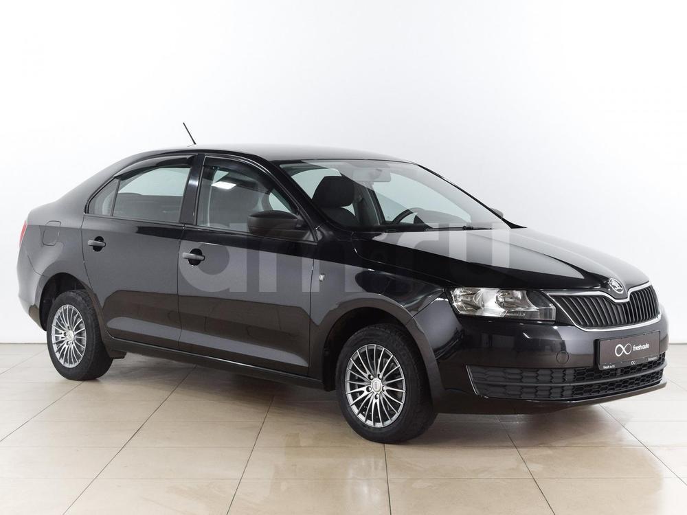 Skoda Rapid с пробегом, черный , отличное состояние, 2014 года выпуска, цена 499 000 руб. в автосалоне  ()