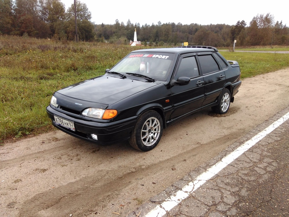 Подержанный ВАЗ (Lada) 2115, хорошее состояние, черный металлик, 2004 года выпуска, цена 80 000 руб. в Смоленской области