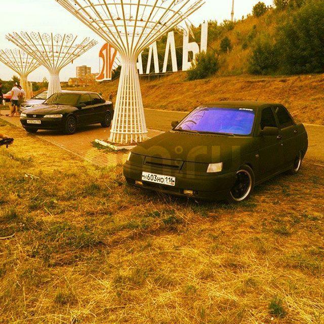 Подержанный ВАЗ (Lada) 2110, отличное состояние, черный матовый, 2001 года выпуска, цена 100 000 руб. в республике Татарстане