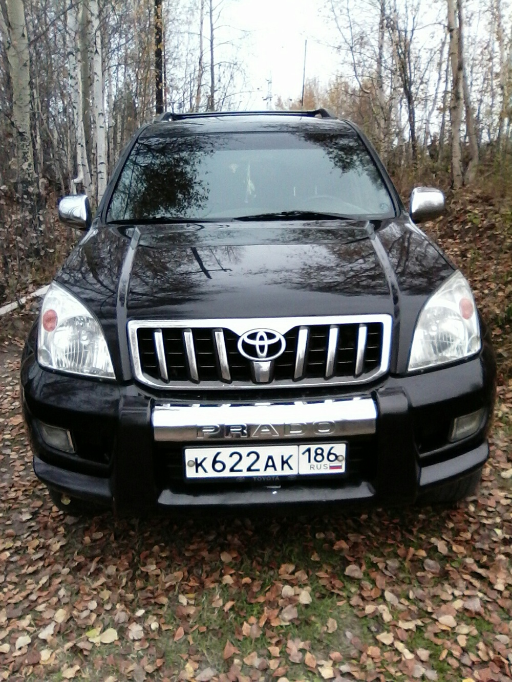 Подержанный Toyota Land Cruiser Prado, хорошее состояние, черный , 2008 года выпуска, цена 1 260 000 руб. в ао. Ханты-Мансийском Автономном округе - Югре
