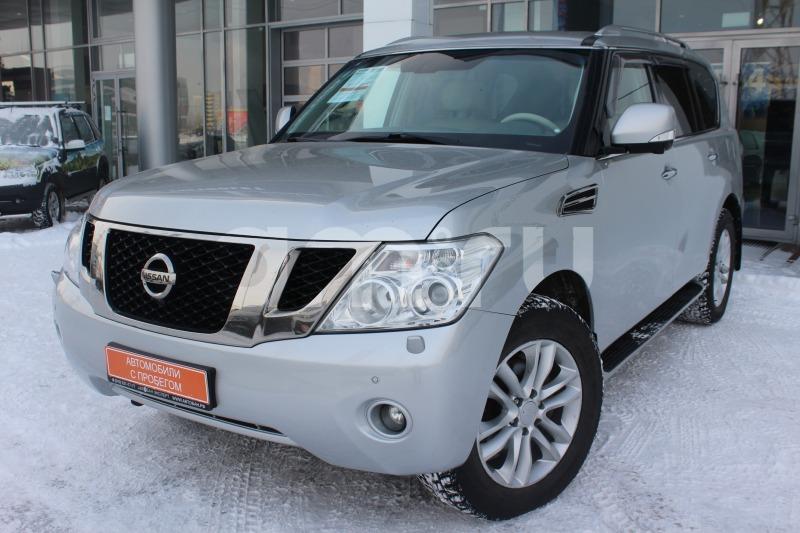 Nissan Patrol с пробегом, серебряный , отличное состояние, 2011 года выпуска, цена 1 580 000 руб. в автосалоне Автобан-Запад (Екатеринбург, ул. Металлургов, д. 67)