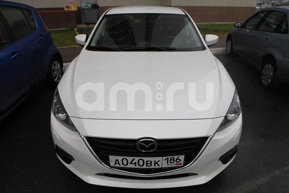 Подержанный Mazda 3, отличное состояние, белый металлик, 2014 года выпуска, цена 799 000 руб. в ао. Ханты-Мансийском Автономном округе - Югре