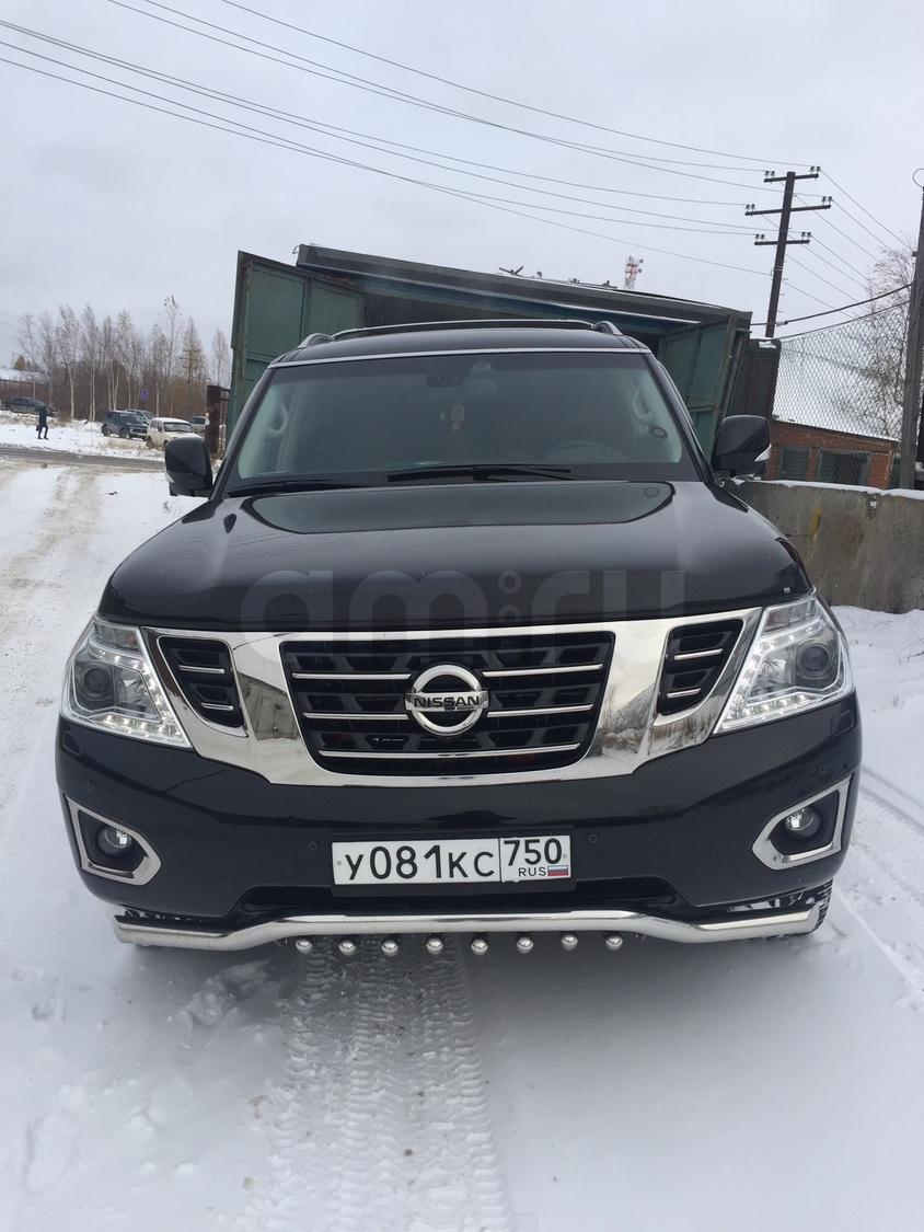 Подержанный Nissan Patrol, отличное состояние, черный , 2014 года выпуска, цена 3 100 000 руб. в ао. Ханты-Мансийском Автономном округе - Югре