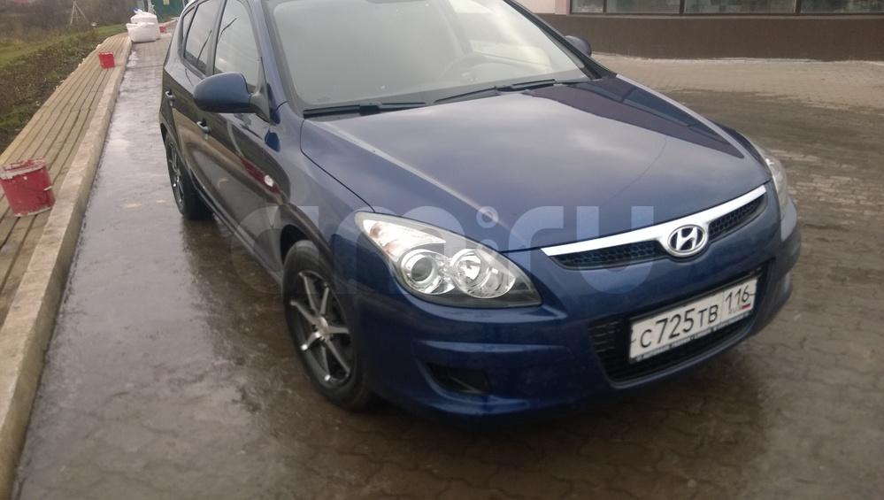 Подержанный Hyundai i30, отличное состояние, синий матовый, 2010 года выпуска, цена 400 000 руб. в республике Татарстане
