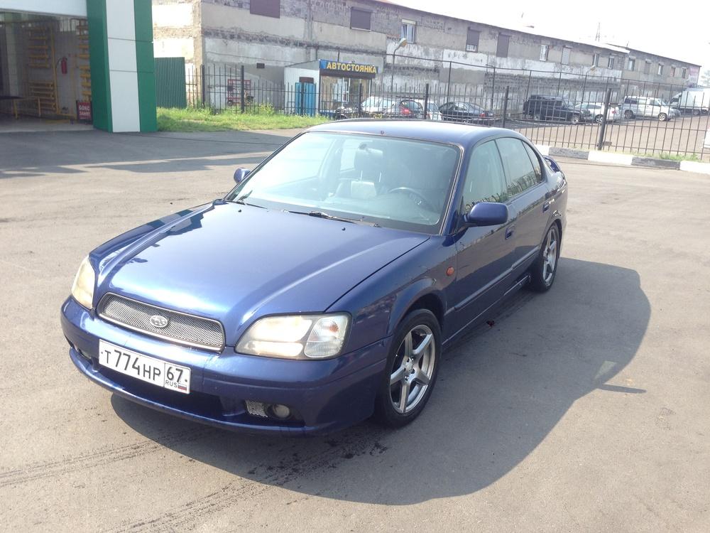 Подержанный Subaru Legacy, среднее состояние, синий , 2001 года выпуска, цена 200 000 руб. в республике Татарстане