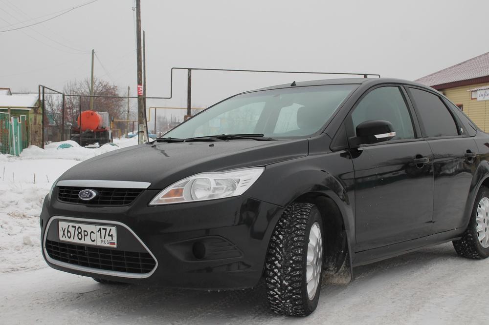 Подержанный Ford Focus, хорошее состояние, черный , 2008 года выпуска, цена 310 000 руб. в Челябинской области