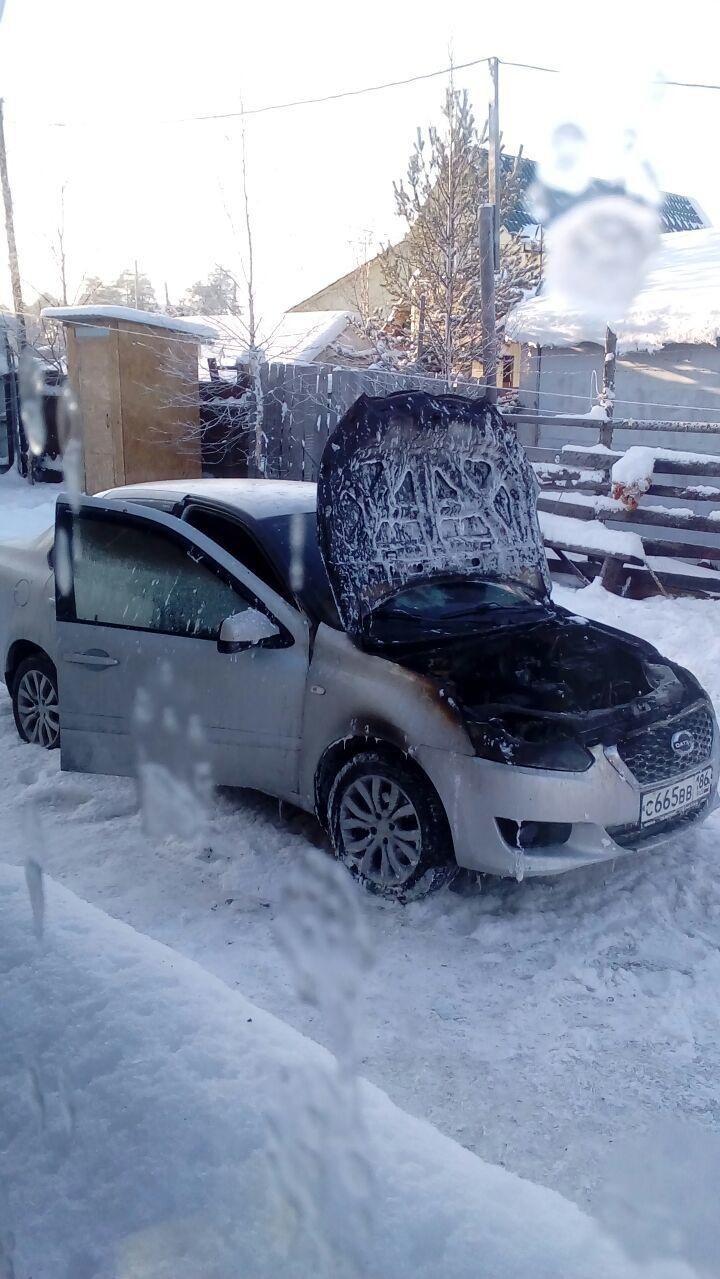 Подержанный Datsun on-DO, плохое состояние, серебряный , 2014 года выпуска, цена 130 000 руб. в ао. Ханты-Мансийском Автономном округе - Югре