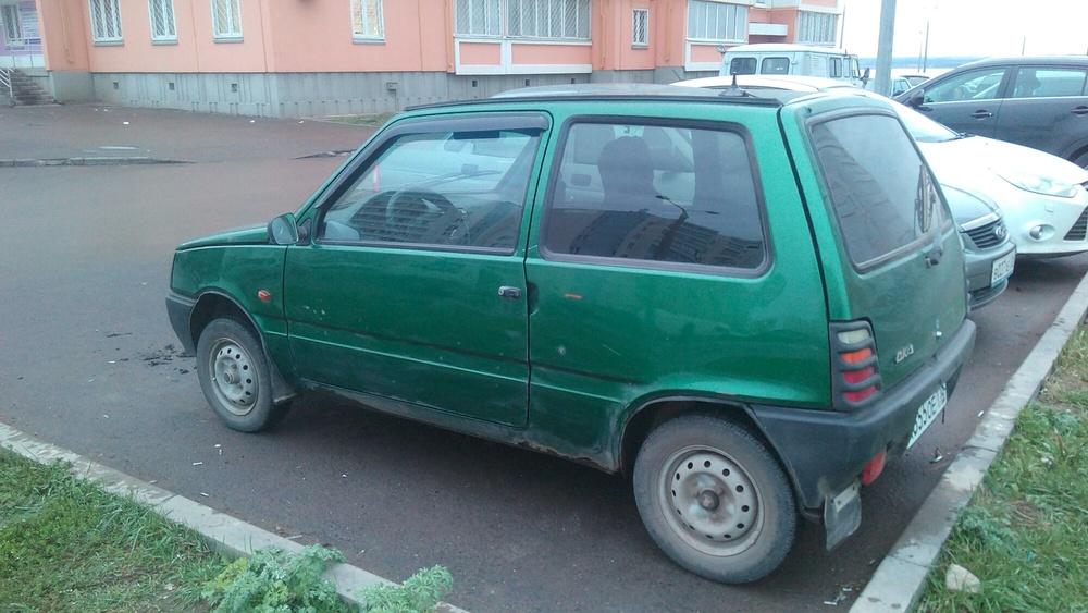Подержанный ВАЗ (Lada) 1111 Ока, хорошее состояние, зеленый металлик, 2005 года выпуска, цена 55 000 руб. в республике Татарстане
