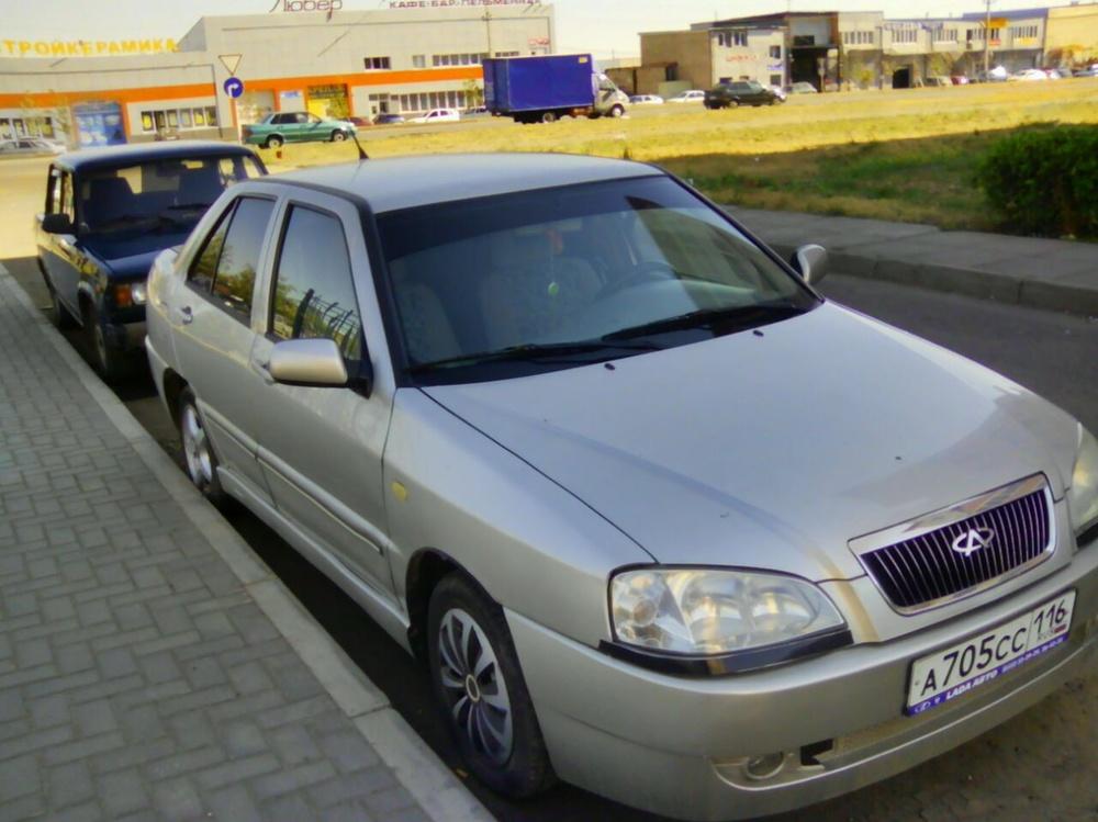 Подержанный Chery Amulet, хорошее состояние, серый металлик, 2007 года выпуска, цена 95 000 руб. в республике Татарстане