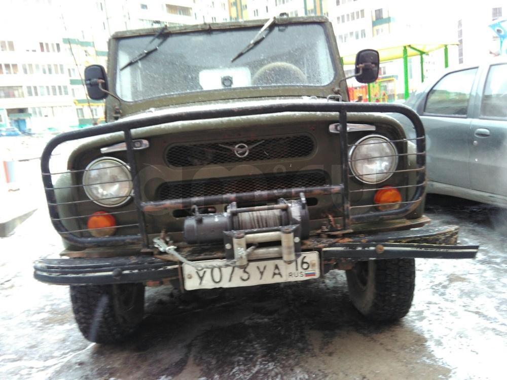Подержанный УАЗ 3151, хорошее состояние, зеленый матовый, 1997 года выпуска, цена 100 000 руб. в республике Татарстане