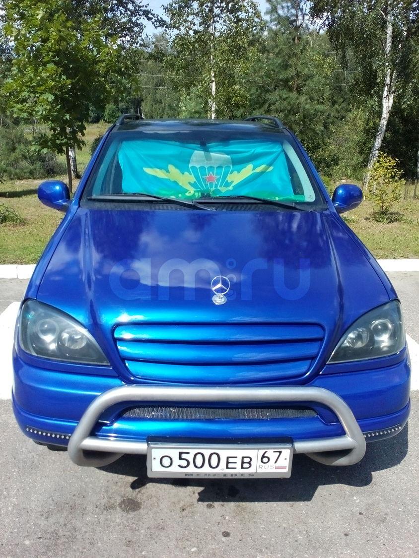 Подержанный Mercedes-Benz M-Класс, хорошее состояние, синий металлик, 1999 года выпуска, цена 350 000 руб. в Смоленской области
